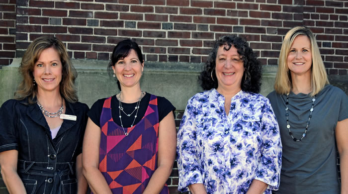 (L to R) Eileen Urquhart, Vicki McAlister, Laurel McElroy, Megan Eshbaugh